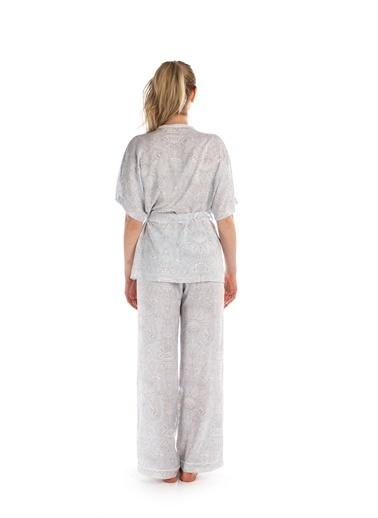 Pamuk & Pamuk Kadın Desenli Kimono Pijama Takımı  Renkli